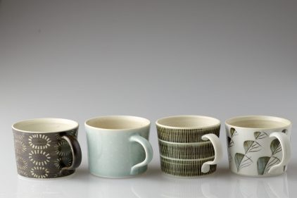 Ringing the changes, porcelain mugs.