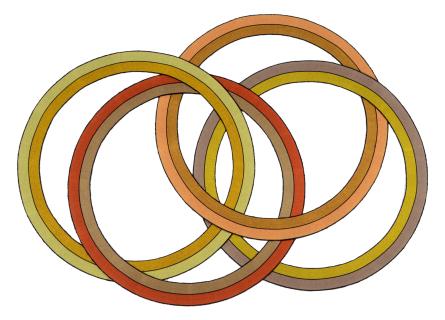 4 Interlocking Rings